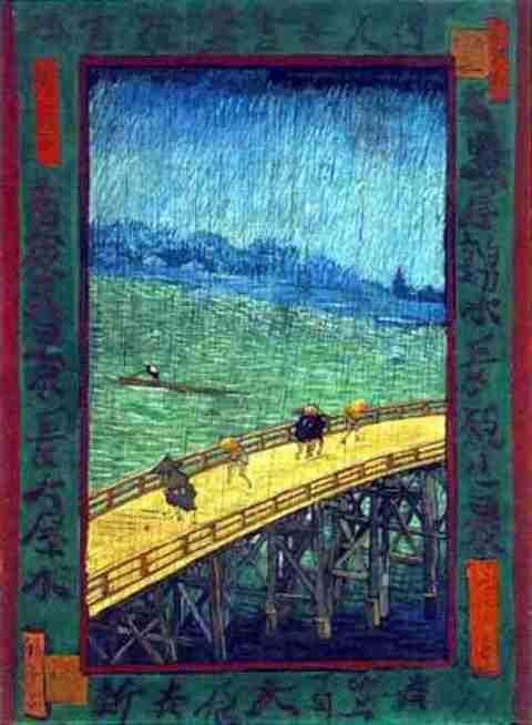 ゴッホ『日本趣味 -雨の大橋-』ポスト印象派