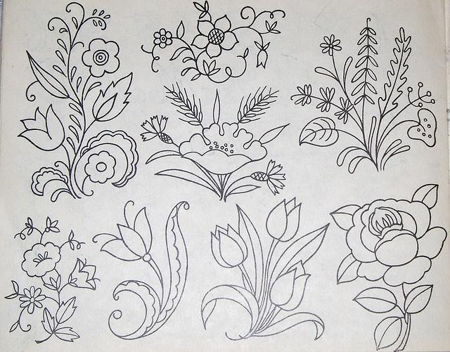 Vintage embroidery patterns by Vakuoli, via Flickr