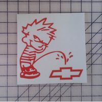 Calvin Pee on Chevy Decal http://www.customsense.com/calvin-pee-on-chevy-decal-p-583.html