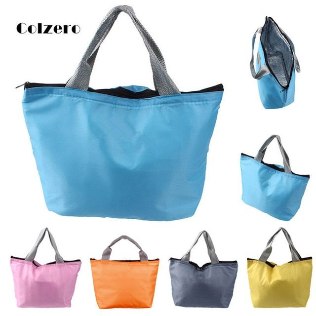 Portable Picnic Insulated Food Storage Box Tote Waterproof Solid Soft Lunch Bag