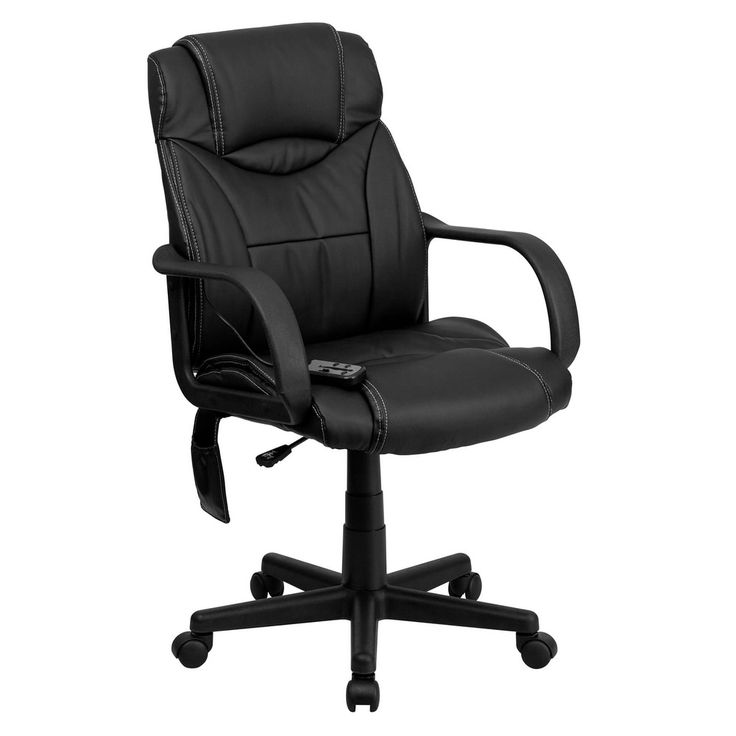 Offex High Back Massaging Black Leather Executive Office Chair [OF-BT-2690P-GG]
