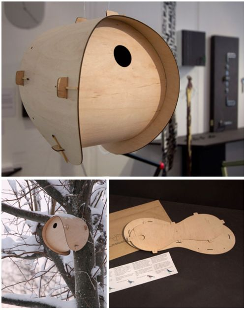 flat pack bird house by jack smith.