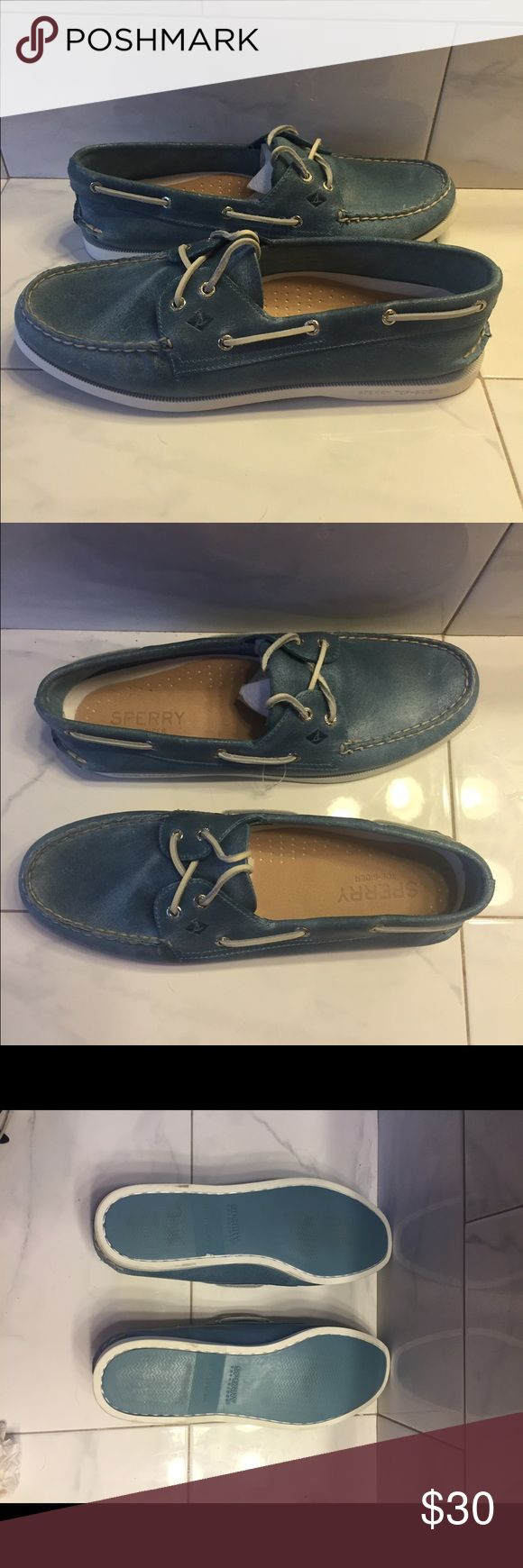 Selling this Sperry Top siders men Sz 11 NWOT chambray blue on Poshmark! My username is: mygirls1618. #shopmycloset #poshmark #fashion #shopping #style #forsale #Sperry Top-Sider #Other