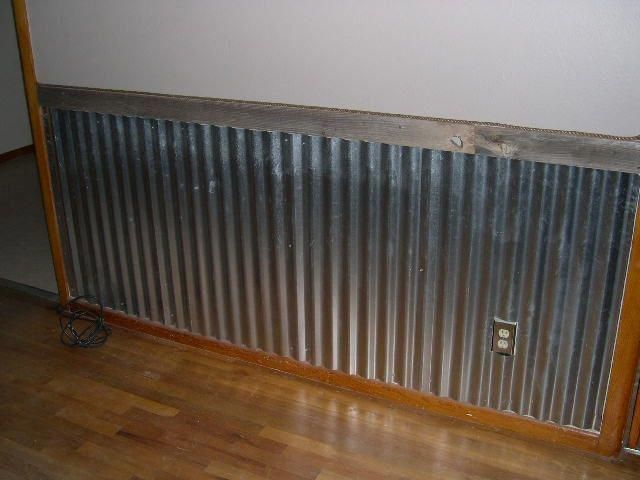 Barn Tin Wainscoting Strange Things I Have Seen During An Inspection Panelingwallsideaspainting Aluminum Wall Panel Corrugated Metal Wall Barn Tin