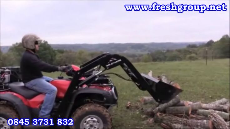 ATV quad bike hydraulic attachments.  ATV Quad Bike Hydraulic Attachments converts your ATV into a powerful machine that digs, lifts, hauls, transports and levels. For more info: http://www.fresh-group.com/atv-quad-bike-hydraulic-attachments.html