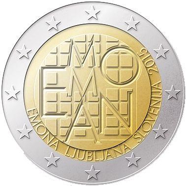 """Moneta Celebrativa """"2000 anni insediamento romano di Emona"""" Anno: 2015 Stato: Slovenia"""