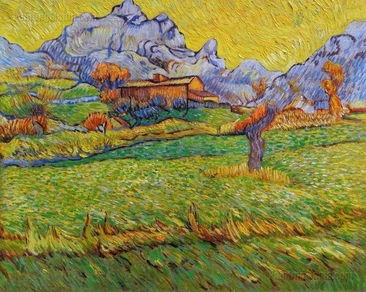 A Meadow in the Mountains - Le Mas de Saint-Paul by Vincent van Gogh