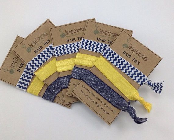 School Spirit Hair Ties Fundraiser For Cheerleaders, Dance Teams, Athletic Boosters, School Fundriaser Team Party Favors