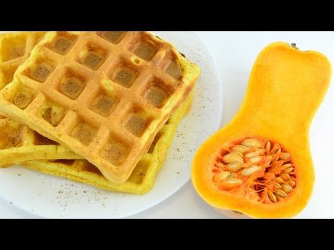 Тыквенные вафли ☆ Pumpkin waffles - YouTube