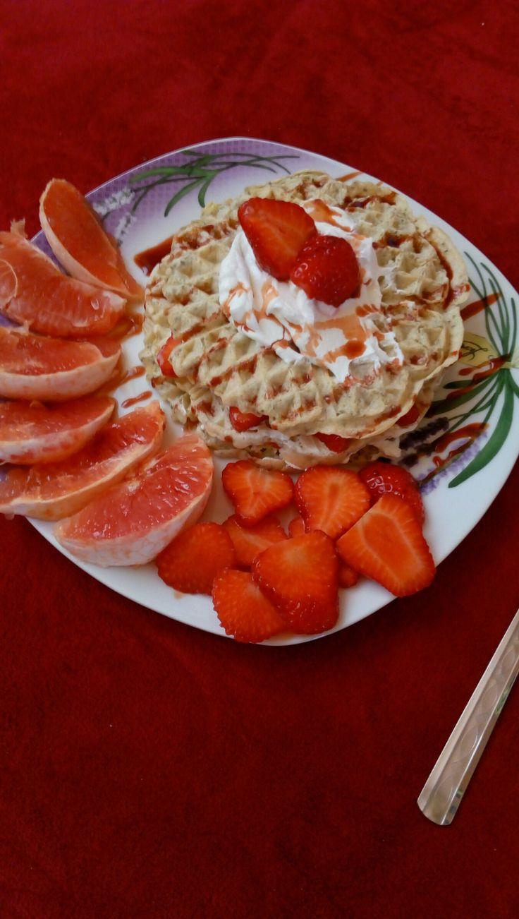 Vafle, breakfast, fit recepty, fitness food, healthy, eat fresch