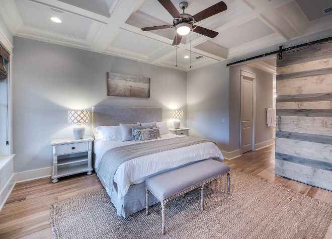 Interior Design Ideas - Paint color is Benjamin Moore HC-171 Wickham Gray.  The floors are 4″ Oak Wirebrushed and Stonewashed. The rug is from Surya.  La Vie: 30A Beach House Rental.