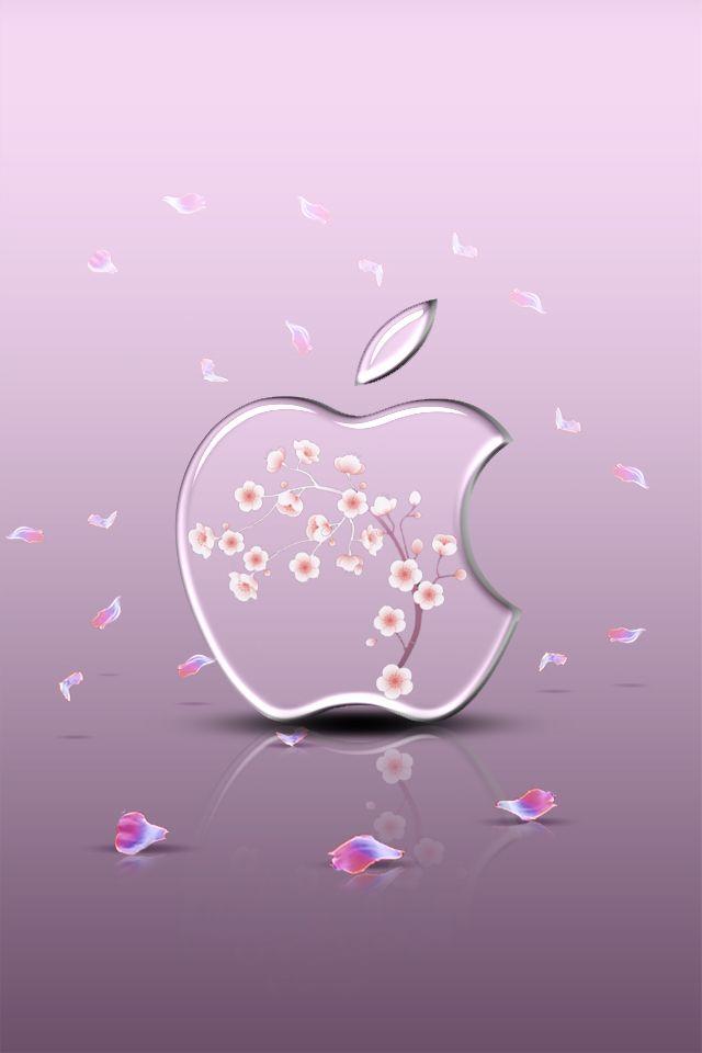 【人気8位】透き通ったAppleロゴのiPhone壁紙 | iPhone壁紙ギャラリー