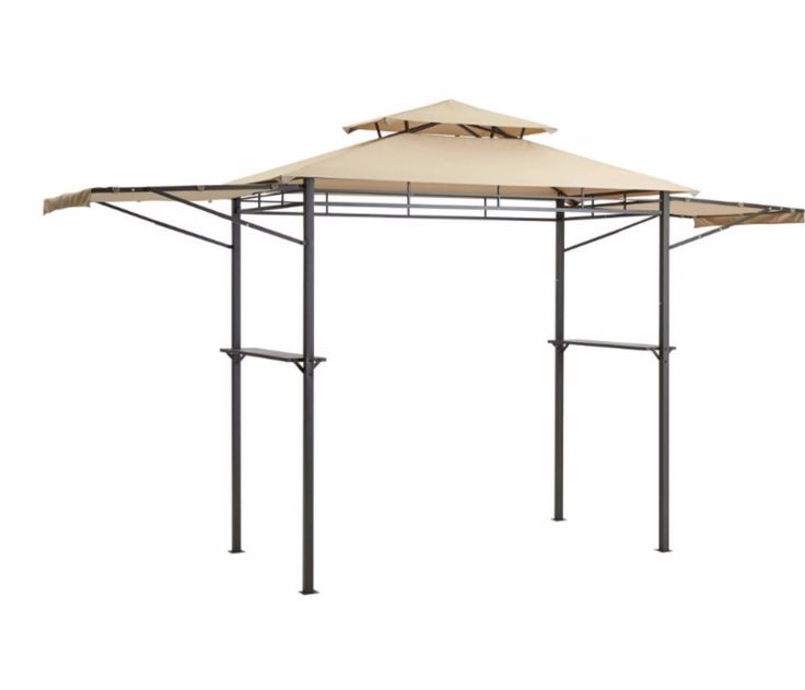 Grill Gazebo BBQ Grilling Canopy Patio Bar Cover  Adjustable Awning 8'x4' Brown #Mainstays