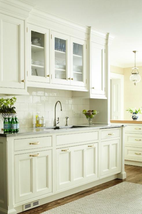 White Kitchen White Subway Tile Backsplash Heidi Piron