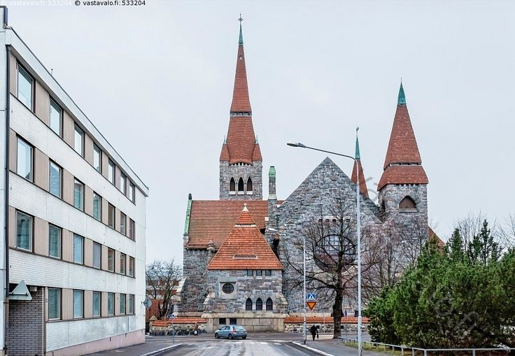 One of my most fave in architecture, the Nordic national romantic era with its typical stone and wood in mix as construction materials. Tampere Cathedral | Tampereen tuomiokirkko, Tampere, Finland.