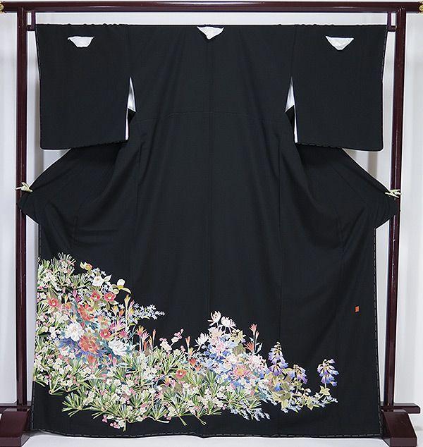 ■新品お仕立上り本場加賀友禅茶谷孝志作黒留袖