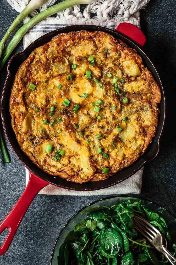 Simple Spanish Tortilla Recipe | The Mediterranean Dish. Spanish tortilla is a simple, satisfying, and perfectly layered potato and egg casserole.