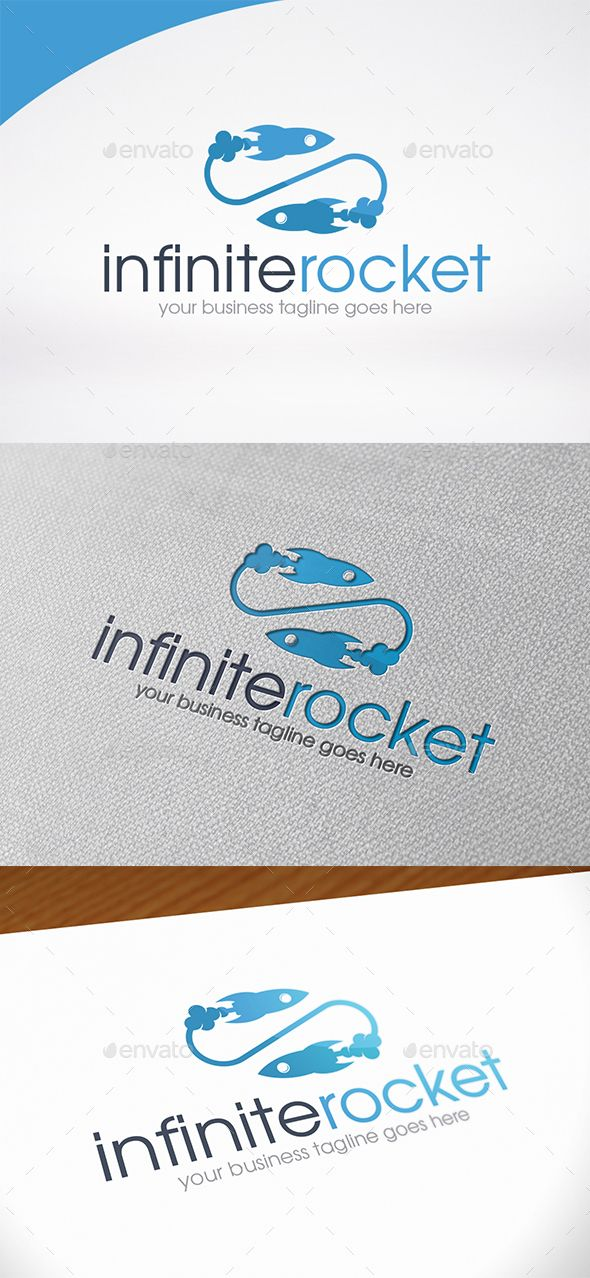 Infinity Rocket Logo Template — Photoshop PSD #hosting #rocket launch • Available here → https://graphicriver.net/item/infinity-rocket-logo-template/14425619?ref=pxcr