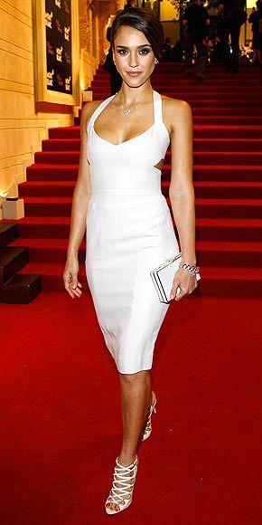 WHITE-ON-WHITE Jessica Alba