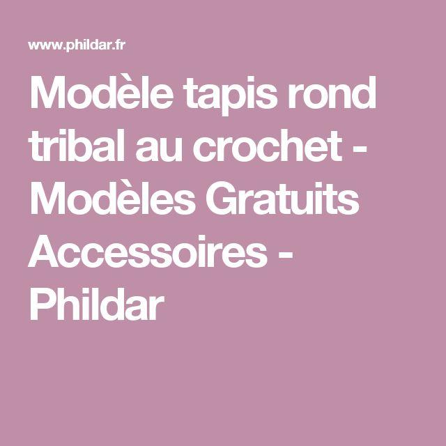 Modèle tapis rond tribal au crochet - Modèles Gratuits Accessoires - Phildar