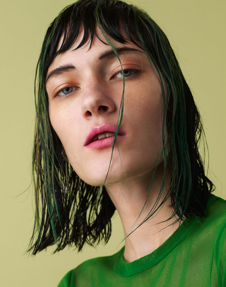 Punk cues align with strong color in the latest Models.com beauty story