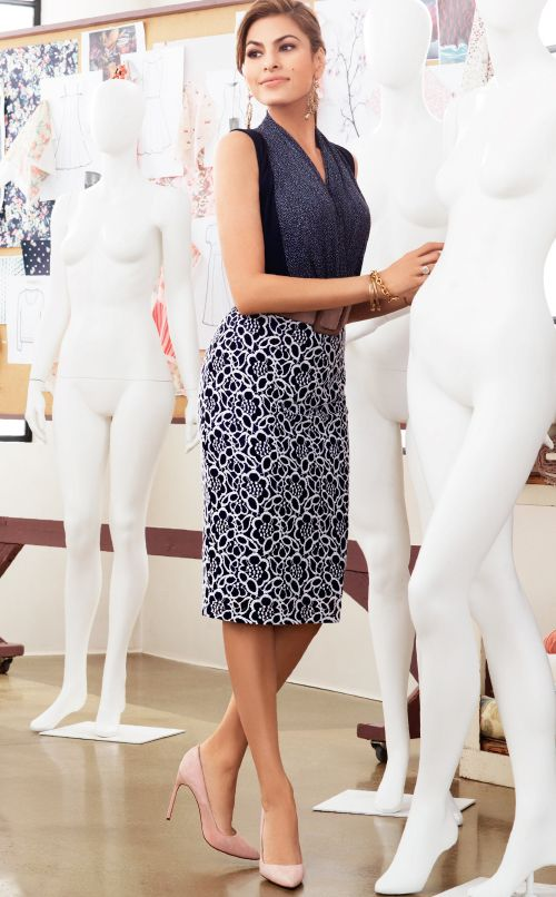 Eva Mendes Collection - Mila Sleeveless Bodysuit and Elsie Pencil Skirt