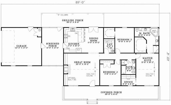 Country style house plans 1800 square foot home 1 story for 1800 sq ft ranch house plans