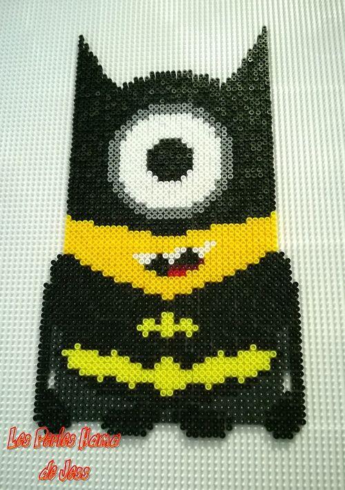 Batman Minion hama perler beads by Jessica Bartelet - Les perles Hama de Jess