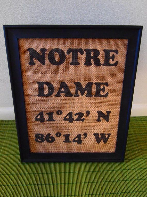 Notre Dame Fighting Irish Latitude Longitude Coordinates by Mosaiq