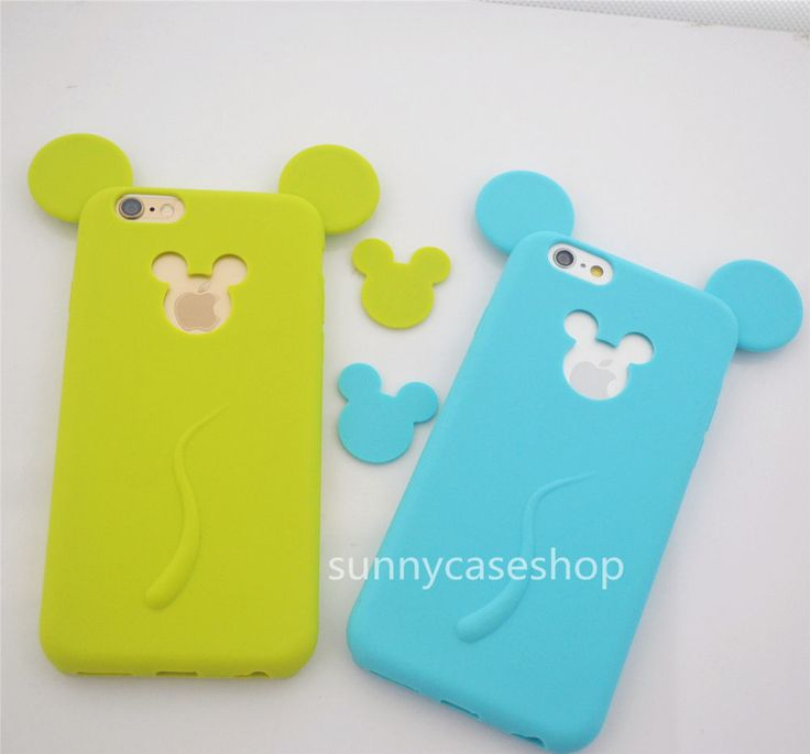 """3D Ear Mickey Minnie Soft Silicone Case cover for Apple iphone6 PLUS 5.5"""" 4.7"""" #Romrichcaseshop"""