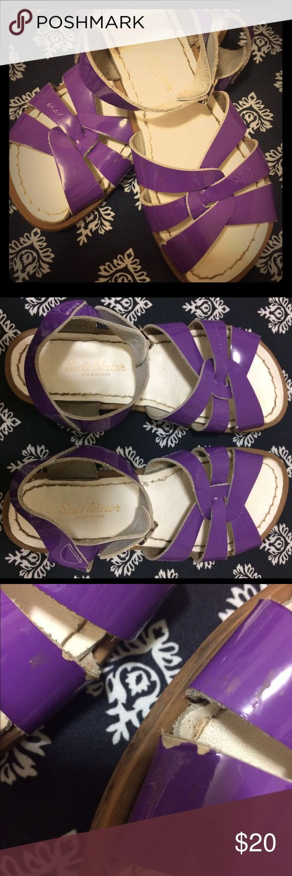 Saltwater Sandals Purple patent leather girls size 2 Authentic Saltwater sandals. Salt Water Sandals by Hoy Shoes Sandals & Flip Flops