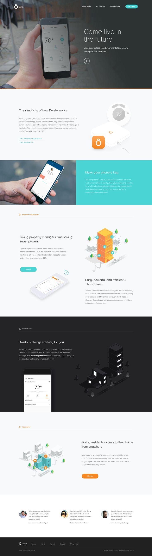 Dwelo Smart Home Landing Page / Eric Hoffman