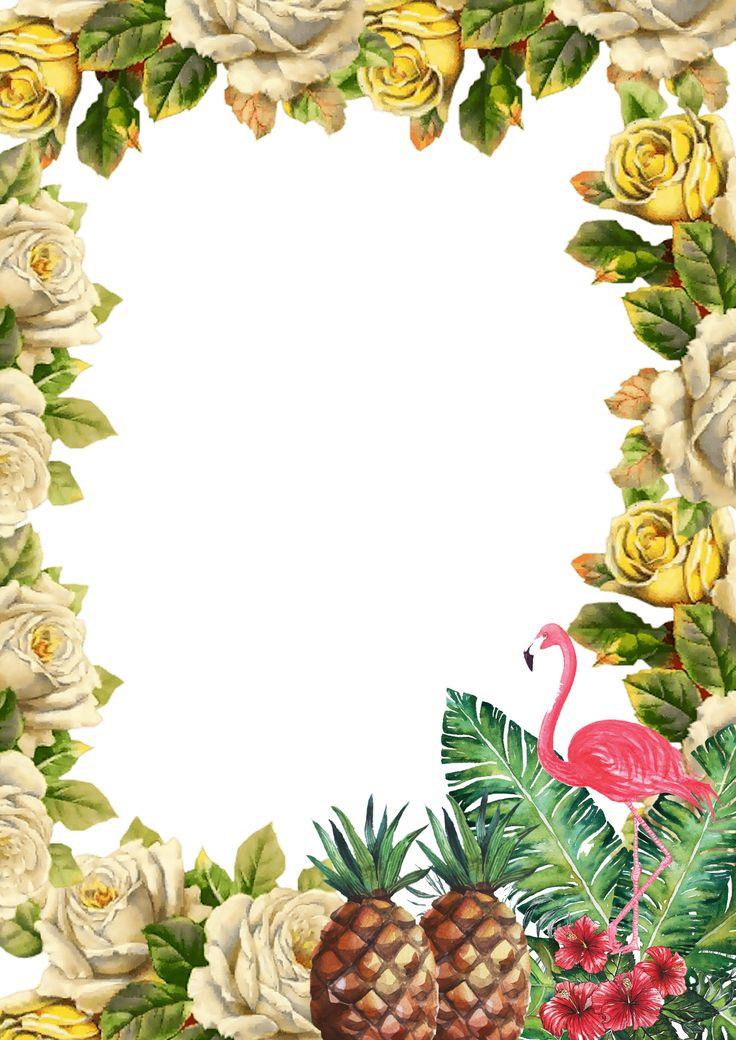 Template convite festa havaiana