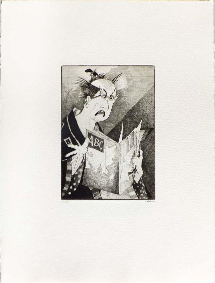 """""""Las partes del mundo"""", 1986.                                                   Carpeta con 5 grabados. Edición de 25 ejemplares.                                                                           Mancha: 18 x 12,5 cm."""