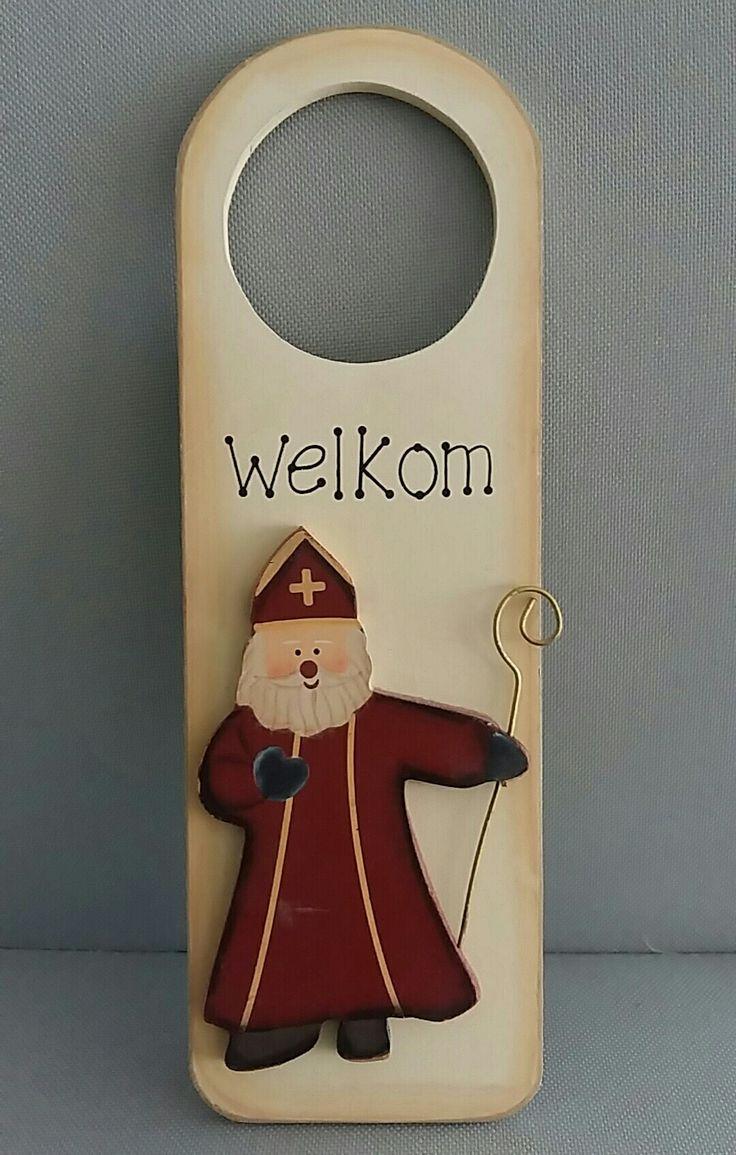Sinterklaas welkom  deurhanger