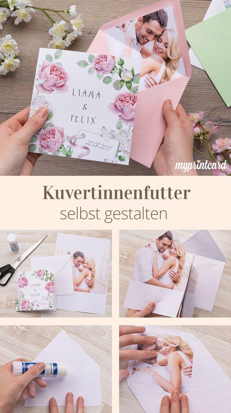 Faça você mesmo envelopes individuais – como funciona!   – Hochzeit: Basteln, Selbermachen & DIY