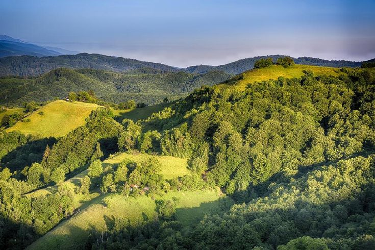 hills in mornig warm light by constantin.hurghea