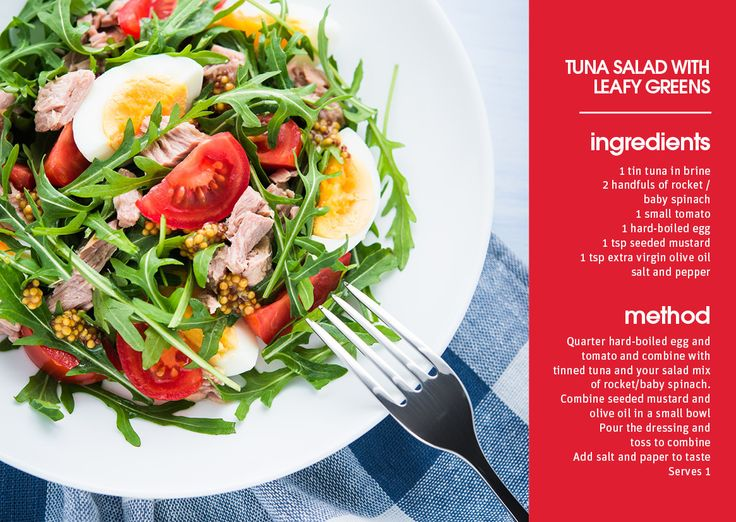 Delicious, easy to make and healthy!  Love this Tuna Salad with leafy greens by @HypoxiAustralia