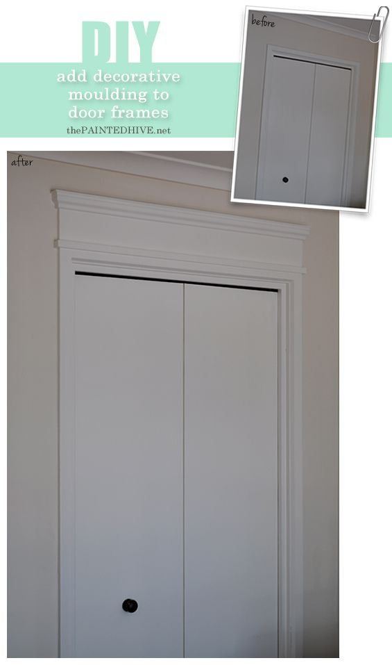 DIY: How to add decorative moulding trim to door frames | The Painted Hive
