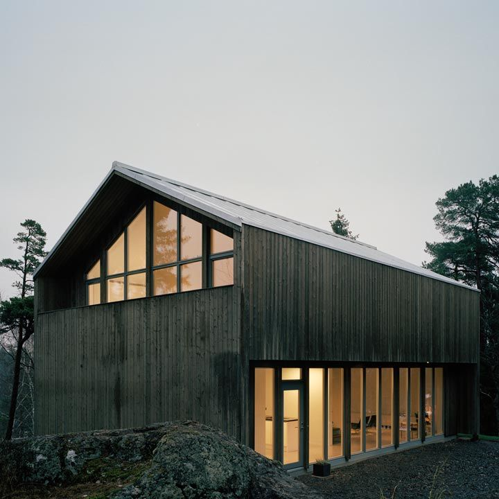 Ah 001 arkitekthus houses pinterest garage a for Barn style modular homes