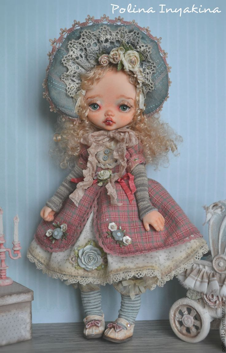Купить Гретэль - розовый, купить подарок, кукла ручной работы, кукла интерьерная, кукла в подарок