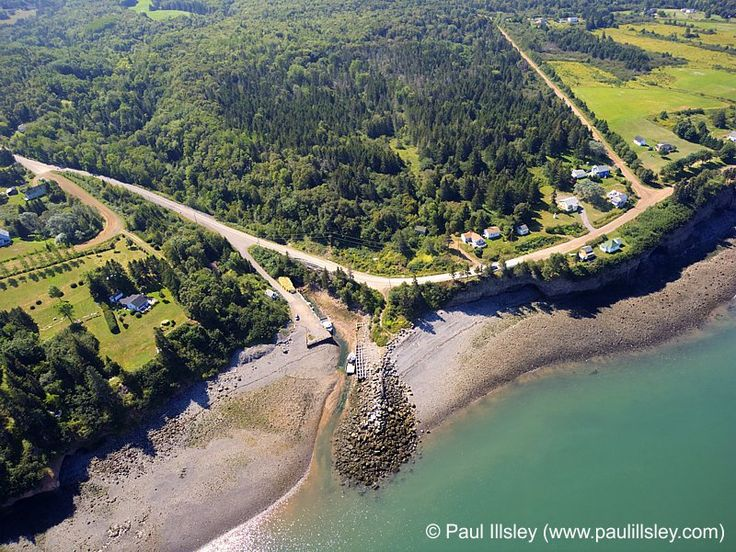 Aerial images of Kings County, Nova Scotia, Canada (Chipman Brook)
