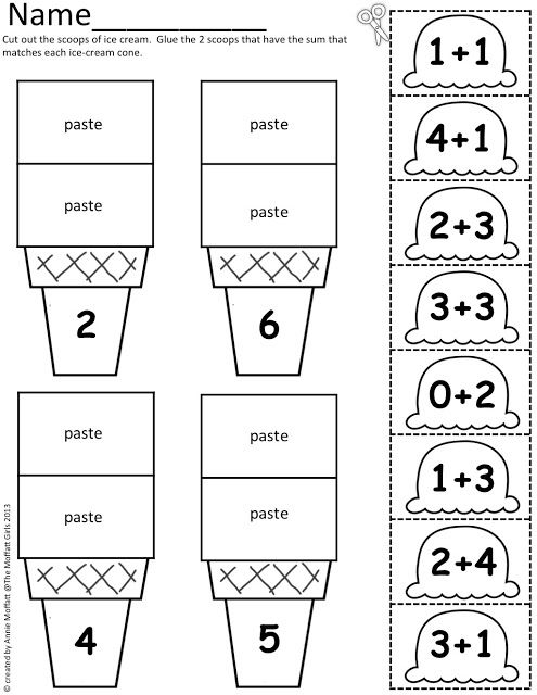 Math Scoops: Addition and subtraction to the sum of 20