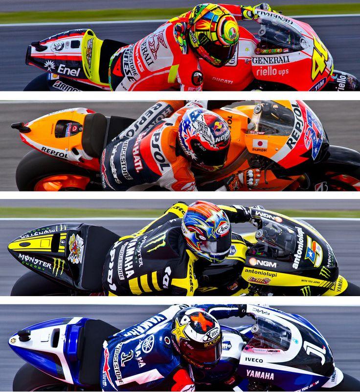moto gp Rossi, Stoner, Edwards and Lorenzo