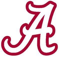 logo_-University-of-Alabama-Crimson-Tide-White-A-Red-Outline ...