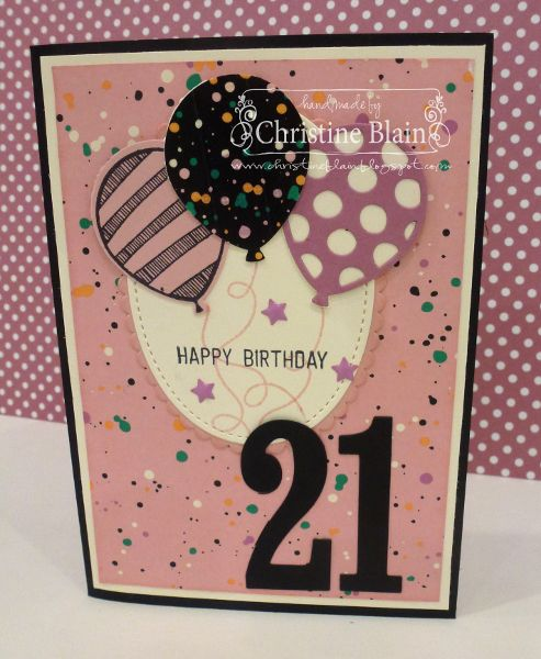 HAPPY HEART CARDS - STAMPIN' UP! BALLOON ADVENTURES IN PINKS
