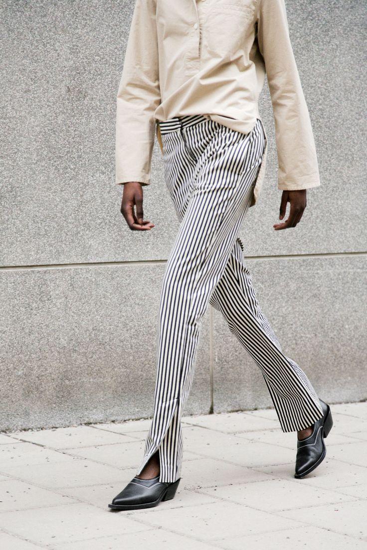 Move Trouser - Black Stripe #HopeStockholm http://hope-sthlm.com/move-trouser-black-stripe