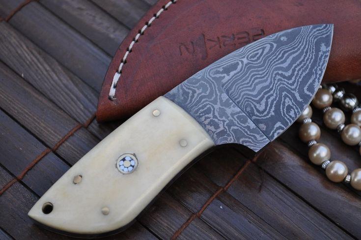 custom knives | Custom made Damascus Knife - Neck Knife