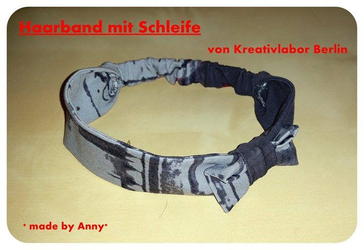 Ein supersüßes Haarband nach meinem Gratis-Schnittmuster: http://www.kreativlaborberlin.de/naehanleitungen-schnittmuster/haarband-mit-schleife-in-5-groessen-baby-erwachsene/