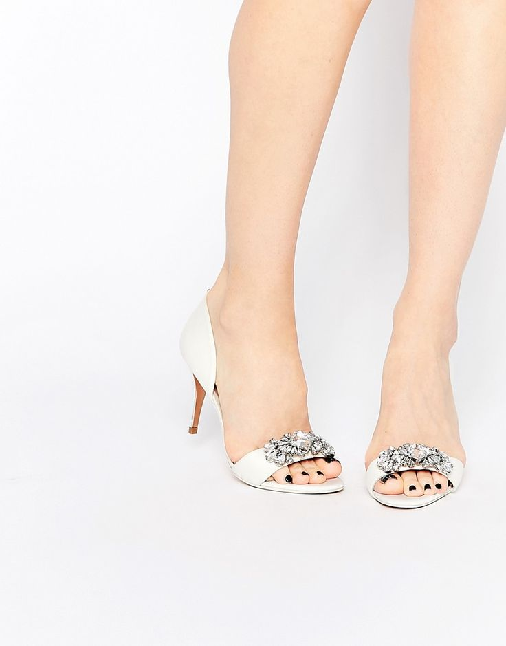 Image 1 ofTed Baker Phinium Tie The Knot Bridal Embellished Heeled Sandals